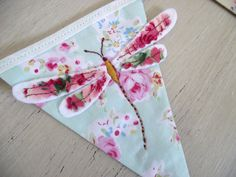 Hand Embroidered Dragonfly Themed Mini Bunting Floral by DandyLane, £38.50