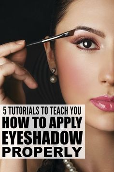 Whether you're just starting to figure out the wonderful world of makeup, or have been coating your face with it for years, these tutorials are filled with fantastic tips and tricks to teach you how to apply eyeshadow PROPERLY. You have got to get this into your life!: