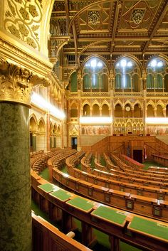 Hungary - Budapest - Hungarian Parliament - Debating Chamber | Flickr