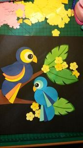 Paper Crafts For Kids, Diy Arts And Crafts, Diy For Kids, Bird Crafts, Animal Crafts, Pop Up Flower Cards, Circus Crafts, Instruções Origami, Art Drawings For Kids