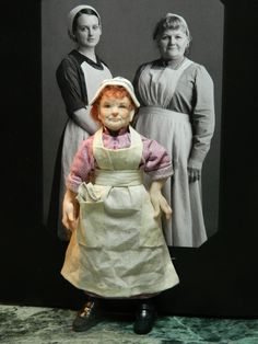 Mrs. Patmore is a 5.5 inch gently poseable doll hhouse doll. (this wonderful Mrs P is by Lorrie Plasco-Andersen. See her board on Pinterest)