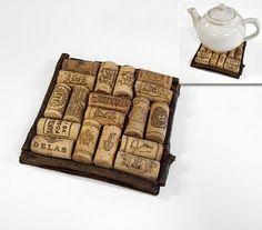 Wine cork crafts.