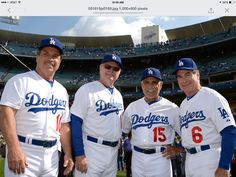 2015 old timers game.  Cey, Russell, Lopes and Garvey!!