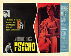 On release, Alfred Hitchcock's Psycho was not only a huge box office success and a magnet for controversy regarding its violence, the film also set the horror genre on a brand new trajectory Saul Bass, Type Posters, Movie Posters, Anthony Perkins, Alfred Hitchcock, Vintage Movies, Horror Movies, Movie Tv