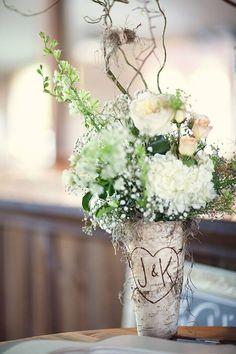Jeff + Kim - Guestbook Table Centerpiece - Rustic Wedding