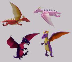 True dragon recolors.