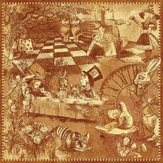 "Photo from album ""Graphic 45 Hallowe'en in Wonderland"" on Yandex. Graphic 45, Alice In Wonderland Book, Adventures In Wonderland, Scrapbook Supplies, Scrapbooking, Halloween Labels, Decoupage Vintage, Vintage Paper, Mad Hatter Tea"