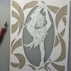 "34 Likes, 5 Comments - Becky Crane (@papercutsstudio) on Instagram: ""Finish the fill cutting for the bottom layer of my #tinydancer papercutting.  Now she gets put in…"""
