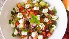 Ensalada de aguacate y mango con queso feta - Recetas de cocina saludablesRecetas de cocina saludables   Porque se puede comer, disfrutar y ganar salud al mismo tiempo