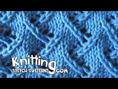 Watch this video to learn how to knit the Zig Zag Lace Stitch. ++ Detailed written instructions: http://www.knittingstitchpatterns.com/2014/09/zig-zag-lace-2...