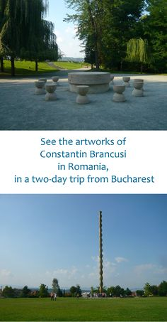 Visit the Constantin Brancusi Works in Romania, in Targu Jiu. This is a two days trip from Bucharest to Oltenia, one of the historical regions of Romania Top Travel Destinations, Europe Travel Guide, France Travel, Travel Guides, Travel Info, European Vacation, European Travel, Constantin Brancusi, Romania Travel