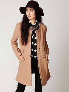 Free People Convertible Wool Coat at Free People Clothing Boutique - StyleSays