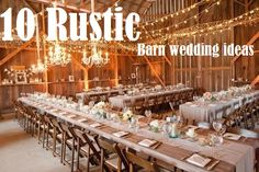 10 rustic barn wedding ideas #barnweddings #southernweddings #rusticdecor