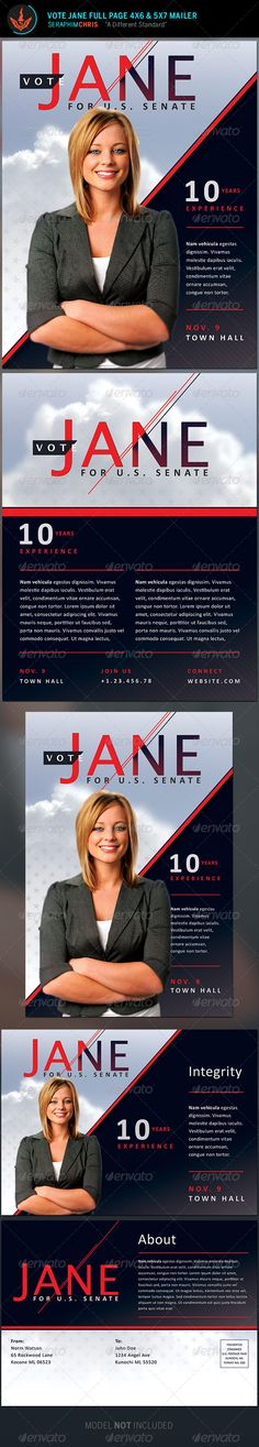 Political Candidate Brochure Design Template by StockLayouts ...