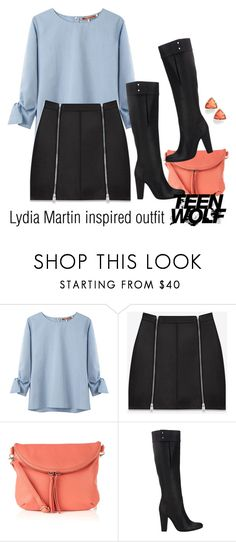 """Lydia Martin inspired outfit/TW"" by tvdsarahmichele ❤ liked on Polyvore featuring United Bamboo, Yves Saint Laurent, Oasis, 3.1 Phillip Lim and Kendra Scott"
