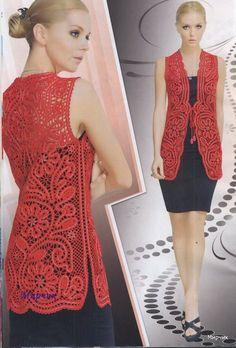 fashion magazines - crafts ideas - crafts for kids Hairpin Lace Crochet, Romanian Lace, Lace Vest, Handmade Skirts, Shawl Cardigan, Irish Lace, Antique Lace, Irish Crochet, Beautiful Crochet