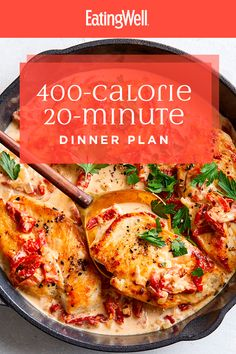 Rather than counting calories all day, simply sticking with 400 calorie dinners every night can help do the trick. Losing weight or not, these healthy dinners will please everyone. 20 minutes is all you need to make these healthy dinners. 600 Calorie Dinner, Healthy Low Calorie Dinner, 600 Calorie Meals, Dinner Under 300 Calories, 1200 Calorie Meal Plan, No Calorie Foods, Healthy Meal Prep, Low Calorie Recipes, Diet Recipes