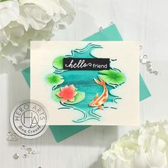 Bringing Die Cuts to Life with Watercoloring - Hero Arts Liquid Watercolor, Watercolor Paper, Floral Watercolor, Hero Arts Cards, Miss You Cards, Card Making Techniques, Animal Cards, Cards For Friends, Looks Style