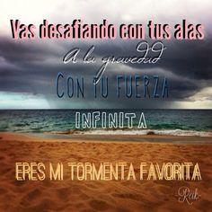Mi tormenta favorita - Reik Music Is Life, My Music, Clever Quotes, How To Speak Spanish, Music Lyrics, Soundtrack, Of My Life, Latina, Sayings