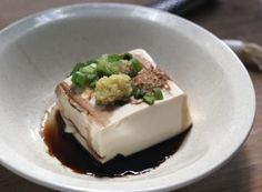 Japanese tofu that's so easy, you'll be making it as a side dish, a quick lunch, an appetizer, or any chance you get. Tofu Recipes, Asian Recipes, Cooking Recipes, Asian Foods, Homemade Tofu, Great Dinner Ideas, Japanese Food, Japanese Recipes, Looks Yummy