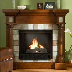 1800's antique walnut fireplace surrounds - Google Search