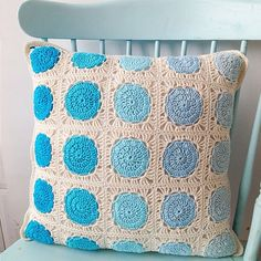 Mini Skein Inspiration - ombre granny squares made into a pillow, blanket, just about anything... #MiniSkeinMonday