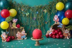 Half Birthday Baby, Snow White Birthday, Mermaid Birthday, Girl Birthday, Birthday Cakes, Birthday Parties, Snow White Photos, 1st Birthday Photoshoot, Vintage Baby Boys