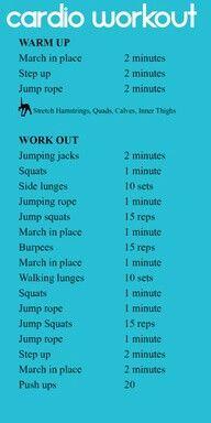 Cardio workout.