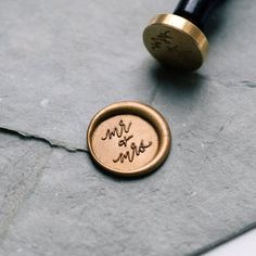 'Mr + Mrs' Wax Seal Stamp featuring handwritten calligraphy by Ettie Kim Seal Size: inch) Wedding Tips, Fall Wedding, Wedding Favors, Wedding Events, Wedding Planning, Wedding Invitations, Dream Wedding, Wedding Decor, Wedding Greenery