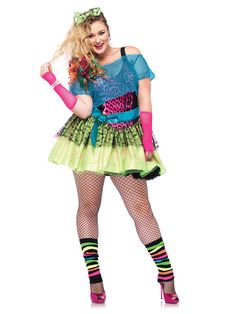 80er Jahre Popstar Damenkostüm Übergrößen neonbunt, aus unserer Kategorie 80er Jahre Kostüme. Wann immer dieser Popstar die Bühne betritt, tobt das Publikum bereits! Die Songs der 80s Sängerin verbreiten einfach Stimmung, daran gibt es nichts zu rütteln. Ein sexy Kostüm für Karneval und Mottopartys. #Faschingskostüm #Damenkostüm #80erparty