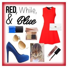"""""""Red, White, and Blue"""" by devynbarton on Polyvore featuring Victoria Beckham, Qupid, Boohoo, Tom Ford, Maybelline, NARS Cosmetics, Bobbi Brown Cosmetics, redwhiteandblue and july4th"""