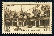 Hôtel-Dieu de Beaune 1443 - 5 F brun-noir - Timbre de 1941