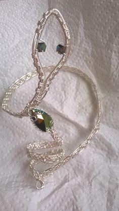 Bracciale e anello serpente con Swarovski