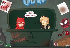 The Little Hero AU, Hawkeye and Daredevil #5