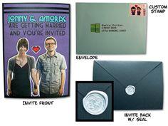 Interactive 8-bit wedding invitations | @offbeatbride