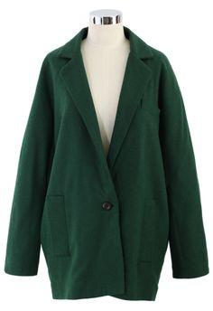 Darkgreen Pea Coat - New Arrivals - Retro, Indie and Unique Fashion