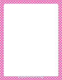 Hot Pink and White Polka Dot Border
