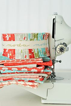 Vintage Modern from Moda; Most of the fabric for Cora's quilt is from this line.