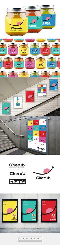 Cherub Baby Food packaging design by Me + James Studio - http://www.packagingoftheworld.com/2017/01/cherub-baby-food.html