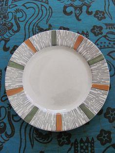 Perfect vintage retro Biltons hand painted plate designed by Kathie ...