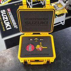 Yoshimura Suzuki Racing mechanic Brandon Anderson trusts #Pelican to keep his tools safe.