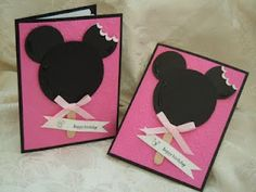 Stampin' Up!  Punch Art  Linda Rodenberg  Minnie Mouse