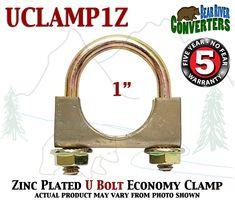 """UCLAMP118 1 1//8/"""" 1.125 U BOLT CLAMP Saddle Style 5//16/"""" Rod Economy Exhaust Clamp"""