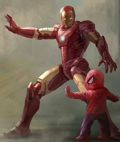 This art reminds me a lot about me  fun fact about me is that my first marvel toy was an iron man figure   @Regrann from @doom.world -  Iron Man&Tom Holland!! #SorryNotSorry Art by The Awesome Yui Horiuchi #CutestShitEverTBH #KawaiiLevelOver9000 #IronMan and #Spidey #SpiderMan #Hype #Newborn #Avenger #Marvel #Comics #Heroes #United #SorryNotSorryMyHashtagsTellAStory #TeamVillain #Doom #Regrann by mcg_venom