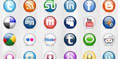 24 lesklé sociální média ikony