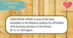 VERATRUM VIRIDE is one of the best remedies in the Materia medica for APHONIA with burning rawness in the throat. Homeopathic Remedies, Home Remedies, Alternative Medicine, Natural Cures, Clinic, Herbalism, The Cure, Healing, Herbs