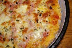 Vynikajúca pizza, ktorú pripravíte za pár minút. Cesto pripravené z bieleho jogurtu a na vrch zvolíte suroviny podľa vlastnej chuti.