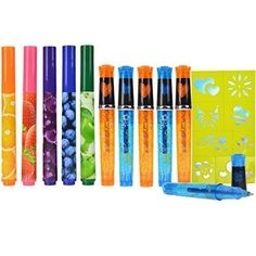 Amazon.com: Scented Markers and Glitter Tattoo Gel Pens - Bundle Set: Toys & Games