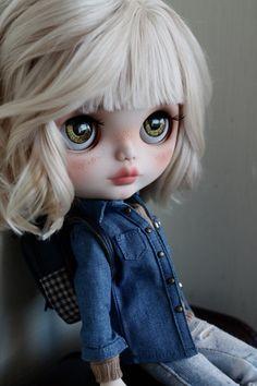 Elise Custom Blythe panenky OOAK umění panenka