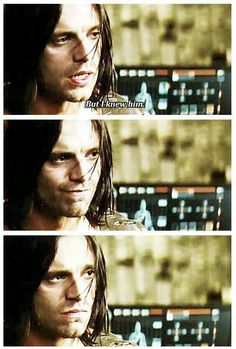 But I knew him. - Bucky... He's glad he remembered yet he regrets it cause he knows what's coming now :(